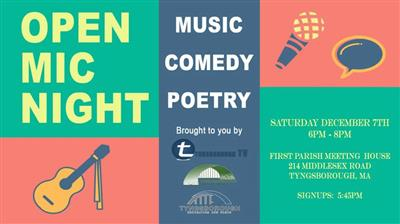 Tyngsborough Open Mic Night